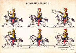 CPSM - Militaire - Militaria - Carabiniers Français - Imagerie Pellerin épinal - 1900 - Uniformen