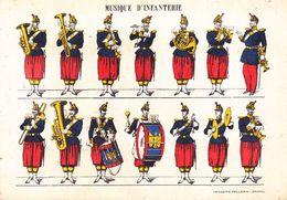CPSM - Militaire - Militaria - Musique D'infanterie - Imagerie Pellerin épinal - Uniformen