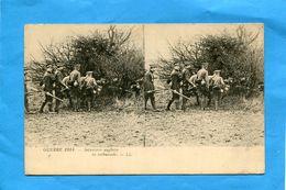 Carte Stéréoscopique-BRITISH-War 1914- -gros Plan -infanterie Anglaise En Embuscade- Animée- -édition L L - Cartoline Stereoscopiche