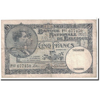 Belgique, 5 Francs, 1926, KM:97b, 1926-11-08, TTB - [ 2] 1831-... : Regno Del Belgio