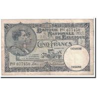 Belgique, 5 Francs, 1926, KM:97b, 1926-11-08, TTB - [ 2] 1831-... : Belgian Kingdom