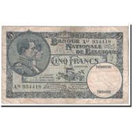 Belgique, 5 Francs, 1929, KM:97b, 1929-01-18, TB - [ 2] 1831-... : Regno Del Belgio