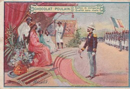 1 Chromo Du Chocolat POULAIN - N°8  Davant Menelik  - 063 - Poulain