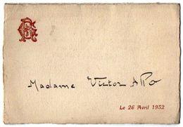VP11.139 - Ancien Menu De 1932 - Famille ALLO - Menus