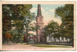 Etats Unis. Bowne Avenue, Showing First Congretional Church, Flushing - Long Island