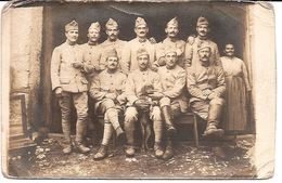 Carte Photo Militaire 1914 1918 - Artilleurs Avec Petit Chien En Haute Saône - 1917 - Guerra 1914-18
