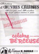 59-CAMBRAI-PARTITION MUSIQUE- ACCORDEON -IMPROMPTU HONGROIS-HONGRIE-SCHUBERT-BERCEUSE MOZART-EDITIONS E.BASILE - Scores & Partitions