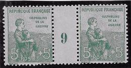 """France N°149 - Paire Millésime """"9"""" - Neuf **/* - TB - Millésimes"""