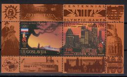 Yugoslavia,SOG-Atlanta '96. 1996.,block,MNH - 1992-2003 Sozialistische Republik Jugoslawien