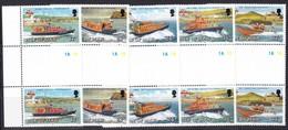 Man, 1991, 459/63, Rettungsboote.  MNH **, GUTTER PAIR, - Man (Eiland)