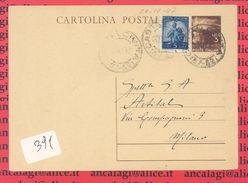 C.P.004 - Cartolina Postale Del 1946, Viaggiata Nel 1947 Con Lire 3+5 - 6. 1946-.. Repubblica