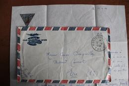 1953     POSTE  AUX  ARMEES  T.E.O.  INDOCHINE   2 ème  R .  E  .  P  .   SUR        ENVELOPPE  COMPLETE 2  PHOTOS - Vietnamkrieg/Indochinakrieg