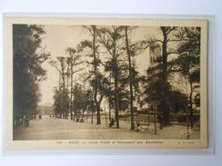 CPA GABY 166 BREST Cours D'Ajot Et Monument Aux Américains - Brest
