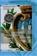 45045) 2 Euro, 2009, Jahr Der Kreativität, KM 490, Im Originalblister, St - San Marino