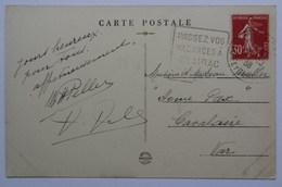 Passez Vos Vacances à Clairac, (47), Oblitération Daguin, 1938, Sur Carte Clairac, La Cale - Annullamenti Meccaniche (Varie)