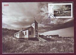 Carte Postale Philatélique - SAINT PIERRE ET MIQUELON - L'Eglise De Langlade - 2012 - St.Pierre & Miquelon