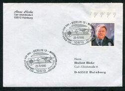 """Bundesrepublik Deutschland / 1995 / SSt. Berlin """"Luftwaffenmuseum, Abb. Flugzeug"""" A. Bf. (10/361) - Marcophilie - EMA (Empreintes Machines)"""
