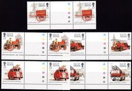 Man, 1991, 473/77,  Feuerwehr.  MNH **, GUTTER PAIR - Man (Eiland)