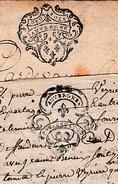 """Généralité """"AUVERGNE"""" - DEUX SOLS & P.P. 2 SOLS 4 Deniers - 2 Actes Notariés - - Historische Documenten"""