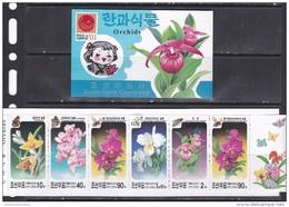 North Korea 2001 Flowers Butterflies Orchids Booklet  MNH - Orchideen
