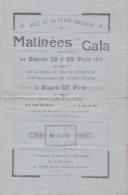 Programme - Gala La Ferté-Gaucher Février 1944 - Théâtre Labiche - Prisonnier - Publicité Magasins Bijouterie Citroën - Programs
