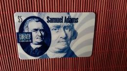 Prepaidcard  Liberty Us 5 $ Samuel Adams  (Mint,New) 2 Scans Very Rare - Sonstige
