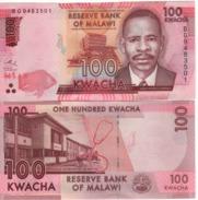 MALAWI  New Date   100 Kwacha   Dated   1st January 2017  UNC    ( P65c ) - Malawi