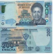 MALAWI  New Date   200 Kwacha   Dated   1st January 2017  UNC    ( P60d ) - Malawi