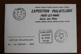 1992    -    MERS  LES  BAINS   -    CARTON  INVITATION  EXPOSITION  PHILATELIQUE - Sonstige
