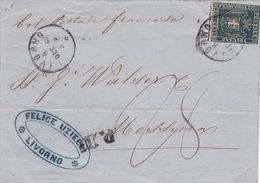 Brief Von Livorno Nach Messina / Col Postale Francese - Toscana