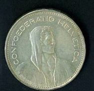 SVIZZERA - SUISSE  - YEAR 1965 - 5 FR. FRANCHI ARGENTO - QUALITA' SPL - Suisse
