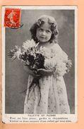 Cpa Carte Postale Ancienne - Fantaisie Enfant Fillette Et Fleurs - Scenes & Landscapes