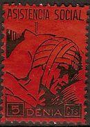 Guerra Civil GG 0451 ** Denia Asistencia Social - Vignette Della Guerra Civile
