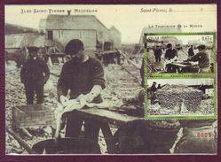 Carte Postale Philatélique - SAINT PIERRE ET MIQUELON - Le Tranchage De La Morue - 2013 - St.Pierre & Miquelon