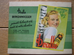 Carton Publicitaire Original (1954) - BIRKENWASSER Dr DRALLE - Plaques En Carton