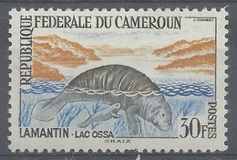 Cameroon, African Manatee (Trichechus Senegalensis), 30f., 1962, MH VF - Cameroon (1960-...)