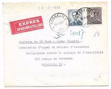 EXPRES  GOSSELIES 19.3.1969  Boud.Marchand 8 Fr + 10 Fr Poortman - Covers & Documents