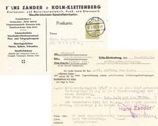 Köln-Sülz 1932. Auftragsbestätigung, Zander Metallwaren - Briefe U. Dokumente