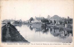 (59) Watten - Double Pont Fixe - Vue De L'entrée De Watten Du Côté De Saint St Omer - Rivière D'Aa - Sonstige Gemeinden