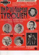 PARTITIONS MUSIQUE-UN P' TIT CHAPEAU TYROLIEN-TYROL-ANDRE VERCHUREN ACCORDEON-JACQUES HELIAN-BOISSERIE-THIVET-LELAURE- - Scores & Partitions
