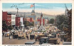 POTTSVILLE PA USA - Garfield Square Showing Soldiers' Monument - Etats-Unis