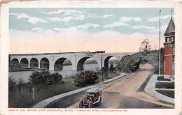 Philadelphia PA USA - R. R. Bridge Over Schuylkill River , Fairmount Park - Philadelphia
