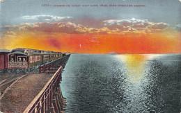 UTAH USA - Sunrise On Great Salt Lake - Train - Salt Lake City