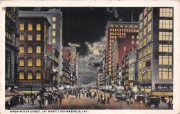 Indianapolis IN US - Washington Street At Night - Indianapolis