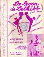 PARTITION MUSIQUE-DANSE LA LECON DE LETKISS-JAAKKO LASANEN-JOUVIN-ROLAND VINCENT-MYRIAM MICHELSON-CACHET LILLE TERRIEN - Scores & Partitions