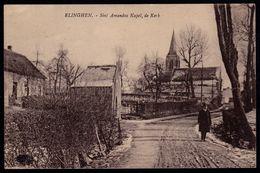 ZELDZAME ! ** ELINGHEN - ELINGEN ( Pepingen ) - SINT AMANDUS KAPEL - DE KERK ** - Geanimeerde - Pepingen