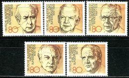 BRD - Michel 1156 / 1160 Aus Block 18 - ** Postfrisch (C) - Bundespräsidenten - [7] West-Duitsland