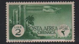 1932 Cirenaica Soggetti Africani 2 L.  MLH - Cirenaica