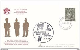 VATICANO -14 9 1970 SS PAOLO VI SCIOGLIE I CORPI MILITARI PONTIFICI - Popes