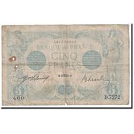 France, 5 Francs, 1915, 1915-08-16, KM:70, B, Fayette:2.30 - 1871-1952 Anciens Francs Circulés Au XXème